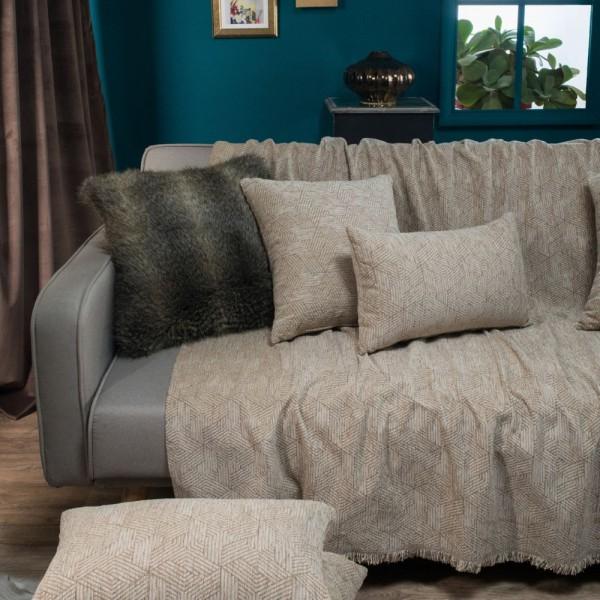 Κουβέρτα καναπέ / Ριχτάρι Austin Καφέ