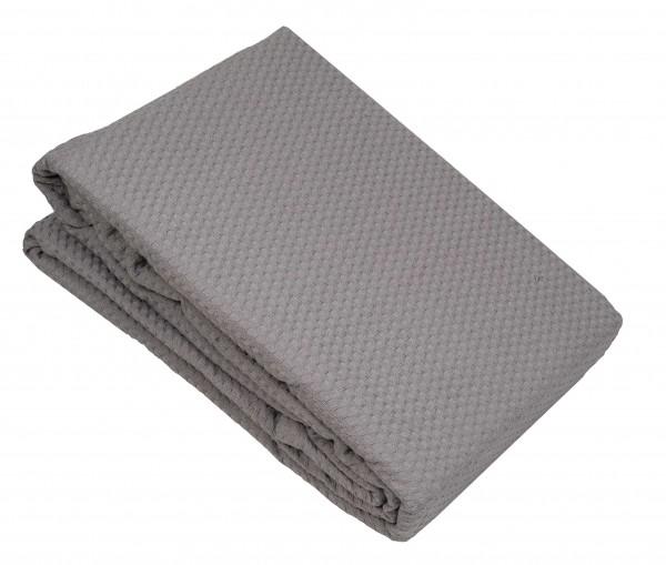 Κουβέρτα Πικέ Le Blanc Sanforized Cotton 100% Grey Μονή 170x230