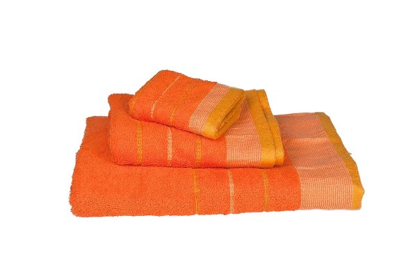 Πετσέτα Le Blanc Πεννιέ 550γρ/μ2 ρίγα νηματοβαφή Πορτοκαλί Προσώπου 50x95