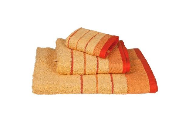 Πετσέτα Le Blanc Πεννιέ 550γρ/μ2 ρίγα νηματοβαφή Ανοιχτό Πορτοκαλί Προσώπου 50x95
