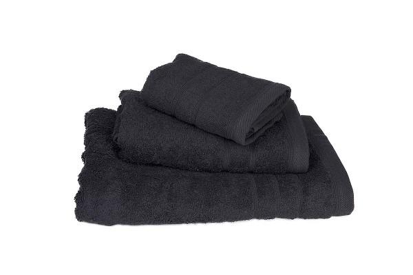 Πετσέτα ΚΟΜΒΟΣ Πεννιέ 500γρ/μ2 Μαύρη Προσώπου 50x90