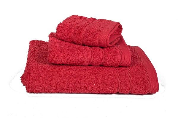 Πετσέτα ΚΟΜΒΟΣ Πεννιέ 500γρ/μ2 Κόκκινη Προσώπου 50x90