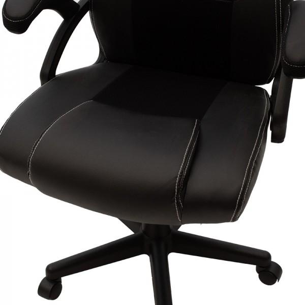 Καρέκλα γραφείου Ernest gaming pakoworld pu-mesh μαύρο