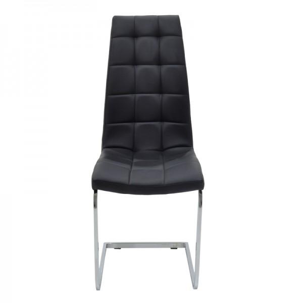 Καρέκλα Darrell pakoworld PU μαύρο-βάση χρωμίου