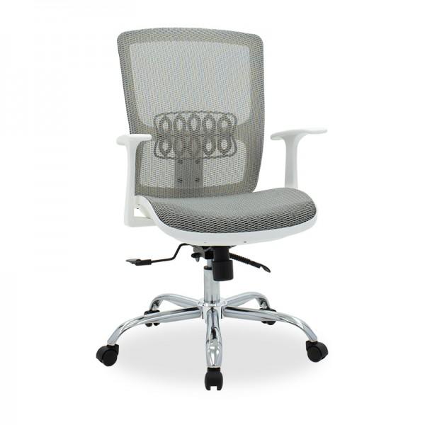 Καρέκλα γραφείου Kadi pakoworld με ύφασμα mesh λευκό