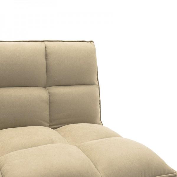 Καναπές-κρεβάτι Rebel pakoworld 3θέσιος με ύφασμα μπεζ 189x92x82εκ