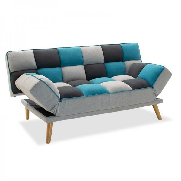 Καναπές - κρεβάτι Andy pakoworld 3θέσιος με ύφασμα πολύχρωμο 178x91x86εκ