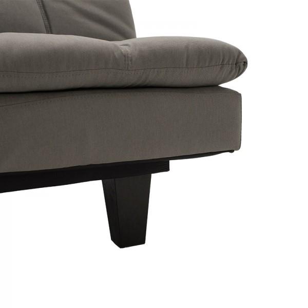 Καναπές - κρεβάτι Lincoln pakoworld 3θέσιος με ύφασμα γκρι 180x86x85εκ