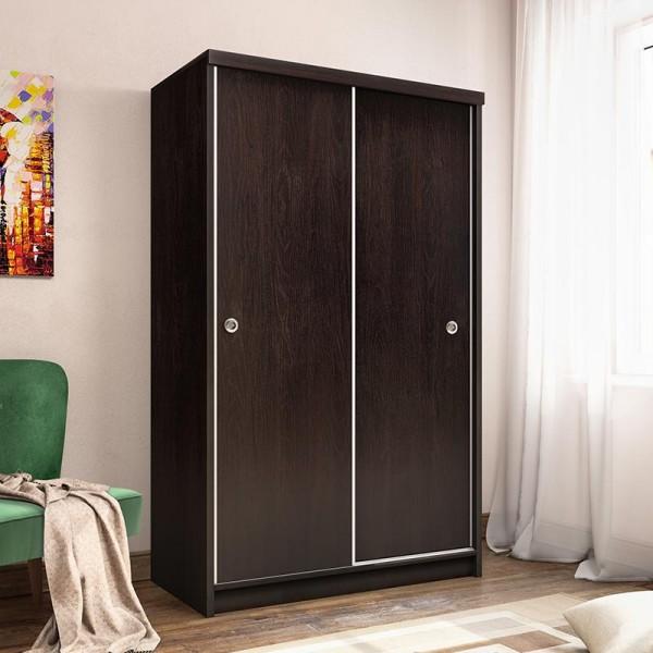 Ντουλάπα ρούχων Bolero pakoworld δίφυλλη με συρόμενες πόρτες wenge 110x53,5x180εκ
