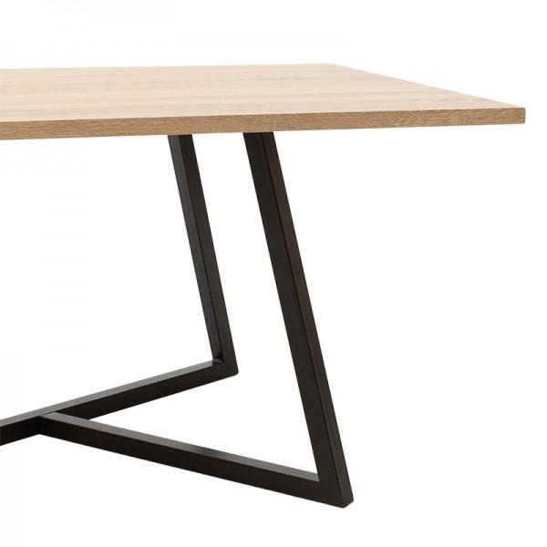 Τραπέζι σαλονιού Ivan pakoworld MDF μεταλλικό sonoma-μαύρο 120x60x45εκ
