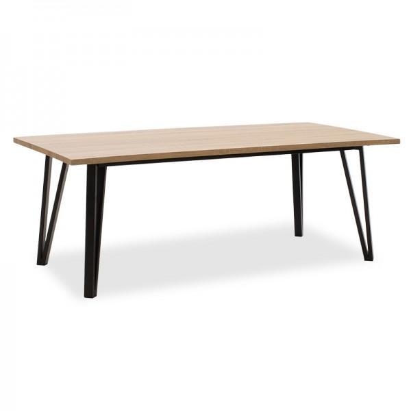 Τραπέζι σαλονιού Justin pakoworld MDF μεταλλικό sonoma-μαύρο 120x60x45εκ