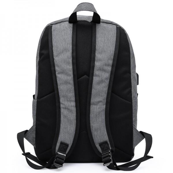 Σακίδιο πλάτης TRV-011 pakoworld γκρι με usb για Laptop 14''