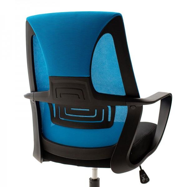 Καρέκλα γραφείου εργασίας Maestro pakoworld με ύφασμα mesh χρώμα μαύρο-μπλε