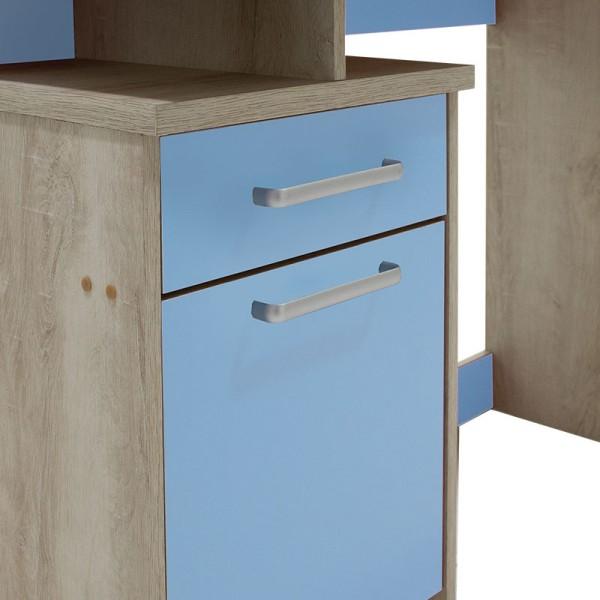 Γραφείο παιδικό Looney pakoworld χρώμα castillo-μπλε 100x55x75εκ