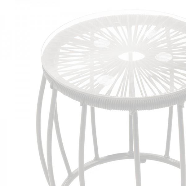 Σαλόνι κήπου Lady pakoworld σετ 3τμχ μέταλλο-pe rattan λευκό ivory